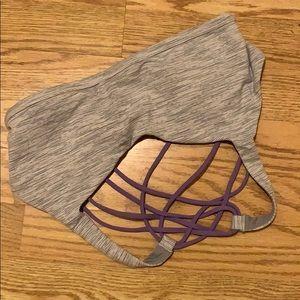 Wild bra with purple straps